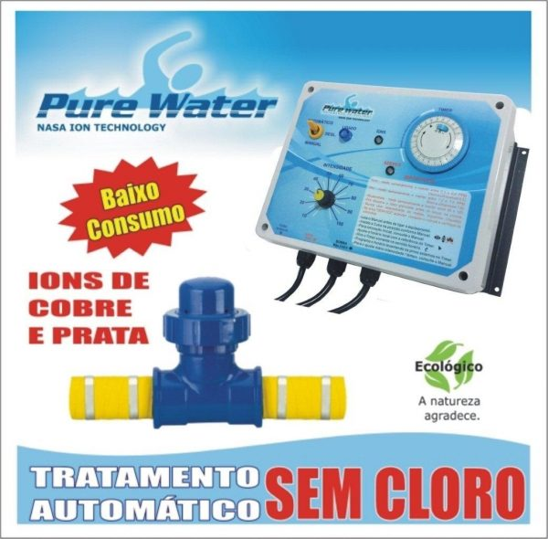 Ionizador PW105 Pure Water - Piscinas até 105.000 L-619
