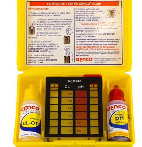 Estojo Teste Cl e pH Genco-0