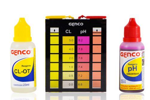 Estojo Teste Cl e pH Genco-771