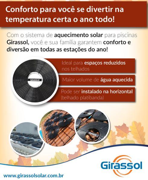 Coletor Solar G1 Girassol P/ Piscinas Até 70.000 L-1001