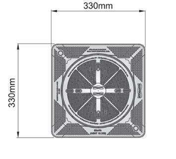 Tampa FSB 30cm x 30cm Prata Sodramar-923