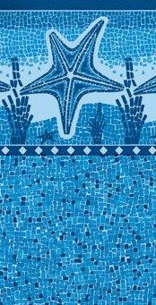 Vinil Estrela Havaí Mosaico Dark Blue SIBRAPE-0