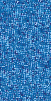 Vinil Estampa Mosaico Havaí Dark Blue Total SIBRAPE-0
