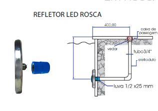 Refletor Steel Led SMD 18 3,6w Pooltec-1231