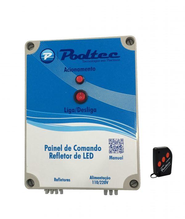 Kit 3 Refetores Steel Led SMD 35 RGB Inox + Comando Mod A Pooltec-1265